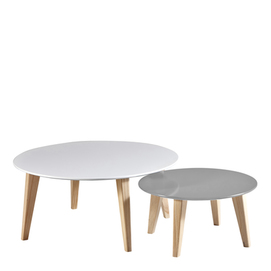 'ROUND' SET 2 TABLES BASSES